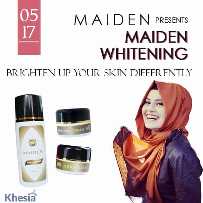 review maiden whitening series